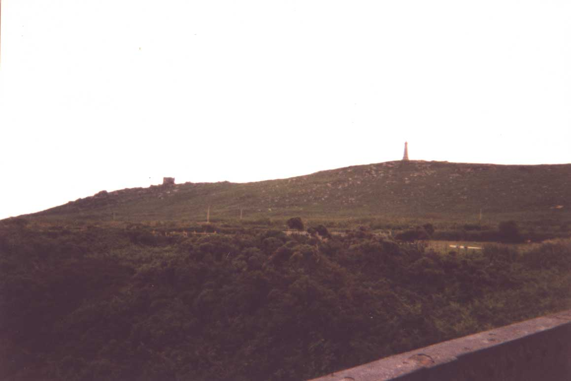 see monument and castle on hill